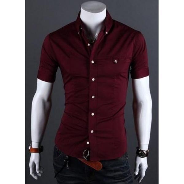 Мужская рубашка с коротким рукавом, фото 1