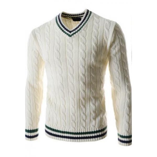 Мужской пуловер-свитер с V-образным вырезом, фото 1