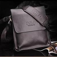 Мужская кожаная сумка через плечо Polo, фото 1