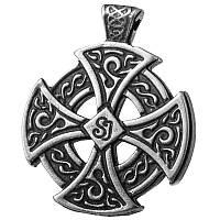 Кельтский Крест  Серебрение / Амулет кулон 3x2 см