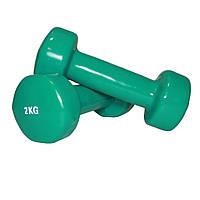 Гантели 2 кг. для фитнеса (2 шт.)