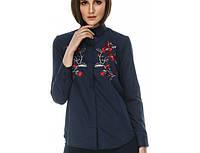 Рубашка женская Цвет (синяя-красная вишивка) ТМ Берегиня (Вышиванки ™БЕРЕГИНЯ)