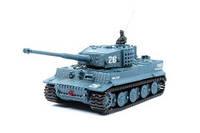 Great Wall Toys Радиоуправляемый танк микро Tiger со звуком, 1:72 (серый)