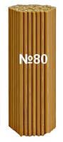 Свечи церковные восковые №80 упаковка 200 шт.(вес 1 кг) 185мм х 6.6мм