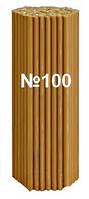 Свечи церковные восковые №100 упаковка 250 шт./вес 1 кг