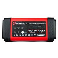 Зарядний пристрій для акумулятора 6/12В, 4/8A, 230В, LED-індикація INTERTOOL AT-3018