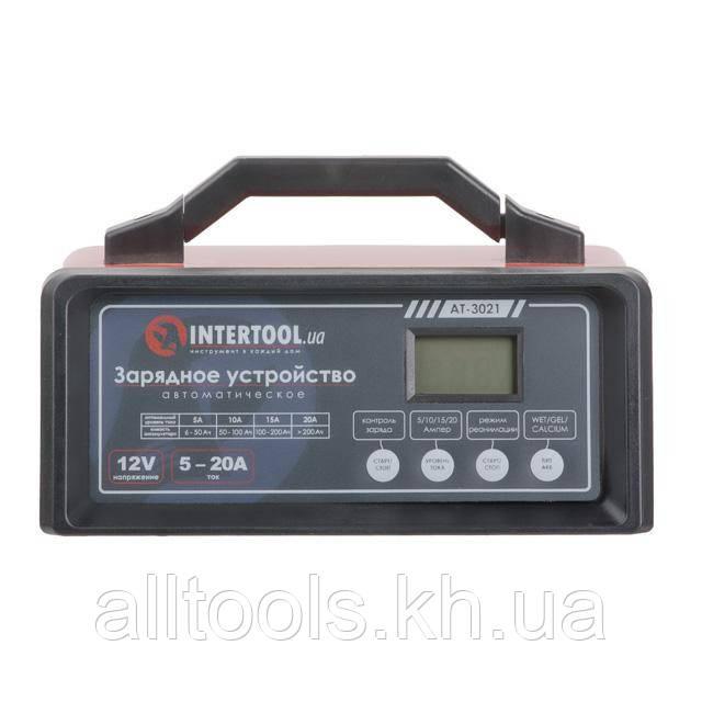Устройство зарядное для аккумулятора 12В, 5/10/15/20А, 230В INTERTOOL AT-3021