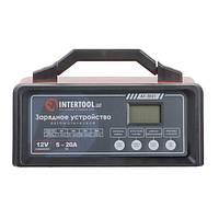 Устройство зарядное для аккумулятора 12В, 5/10/15/20А, 230В INTERTOOL AT-3021, фото 1