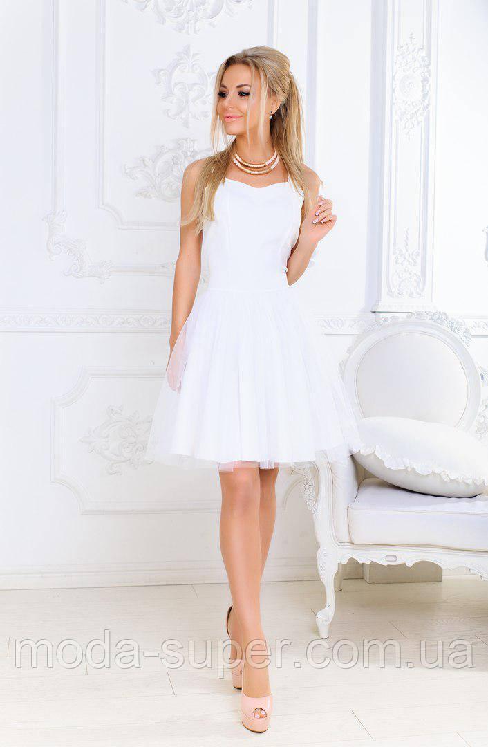 26f1d808da1 Белый сарафан Бэби долл на выпускной - МОДНЯШКА moda-super.com.ua в