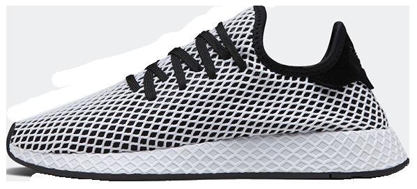 """Мужские кроссовки adidas Deerupt Runner """"Black/White"""" (Адидас) черно-белые"""