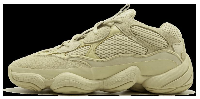 Мужские кроссовки adidas Yeezy 500 'Super Moon Yellow' (Адидас) бежевые
