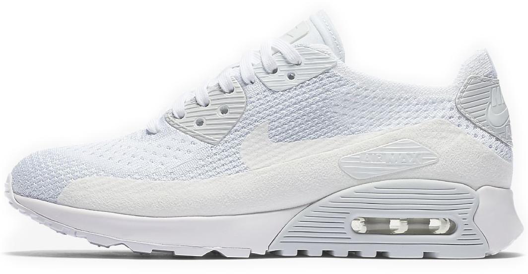 9e2e5450 Женские кроссовки Nike WMNS Air Max 90 Ultra 2.0 Flyknit White (Найк Аир  Макс) белые