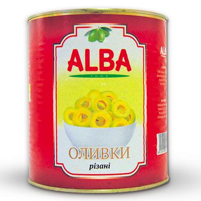 Оливки Alba Food 3100мл різані ж/б