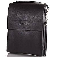 Борсетка-сумка Bonis Борсетка мужская из качественного кожезаменителя BONIS (БОНИС) SHIS8607-black