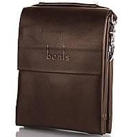 Борсетка-сумка Bonis Борсетка мужская из качественного кожезаменителя BONIS (БОНИС) SHIS8607-brown