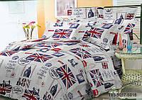 Полуторное постельное белье полиСАТИН 3D (поликоттон) 855018