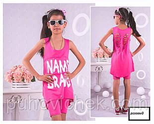 Детский костюм туника и капри на девочку модный