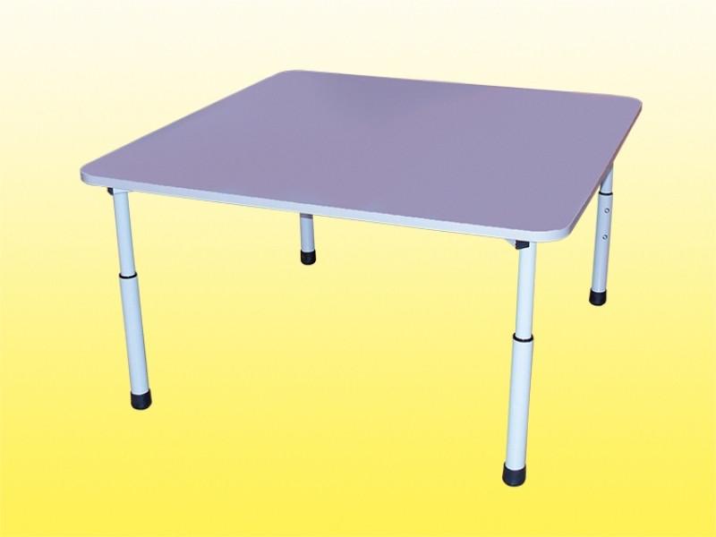 Стол детский регулируемый квадратный 830х830х460-580 мм.