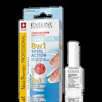 Лечебный препарат для ногтей 8в1 Eveline Cosmetics Nail Therapy Здоровые ногти 12 ml.