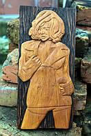 """Дерев'яне панно """"Mylene Farmer"""". Різьба по дереву, фото 1"""