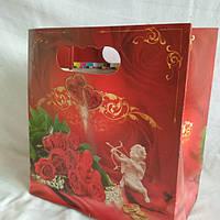 Пакет коробка для каравая 21*11*17см