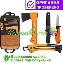 Подарочный набор туриста fiskars (топор + нож + пила + сумка) 1025439