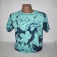 Мужская бирюзовая футболка Лайкра Турция т.м. Walton N3147
