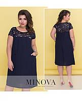 Платье лен натуральный в больших размерах 50-56 , фото 1