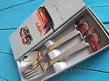 Именные ложки Детские наборы тачка Маквин, фото 3