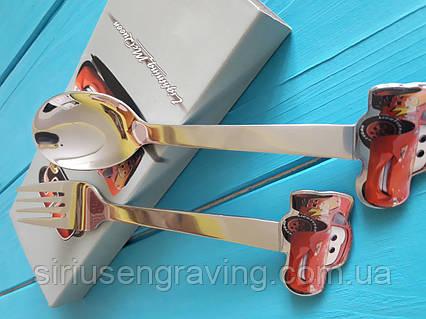 Именные ложки Детские наборы тачка Маквин, фото 2
