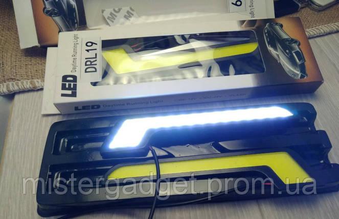 Денні ходові вогні DRL-19 Біле денне світло LED ДХО, фото 2