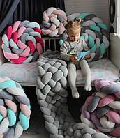 Бортик - коса в детскую кроватку Холлофайбер, 360/30 см