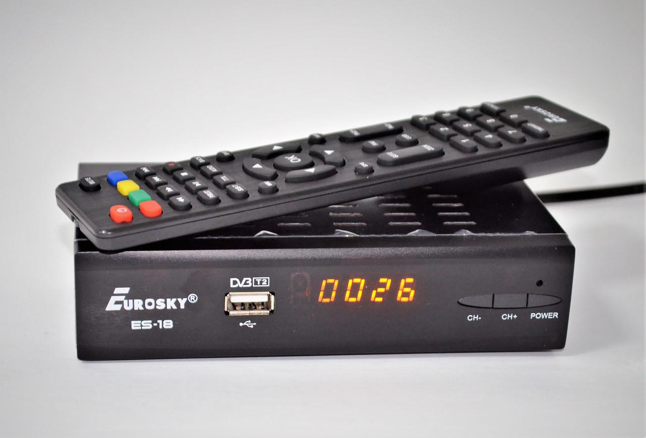 Eurosky ES-18 IPTV DVB-T2 Тюнер (ресивер) Т2 купить недорого с доставкой по  Украине