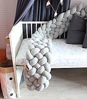 Бортик - коса в детскую кроватку Холлофайбер, 180/30 см