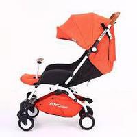 Yoya Care 2018 Orange Оранжевая Прогулочная детская коляска-трансформер 2 в 1 Алюминиевая