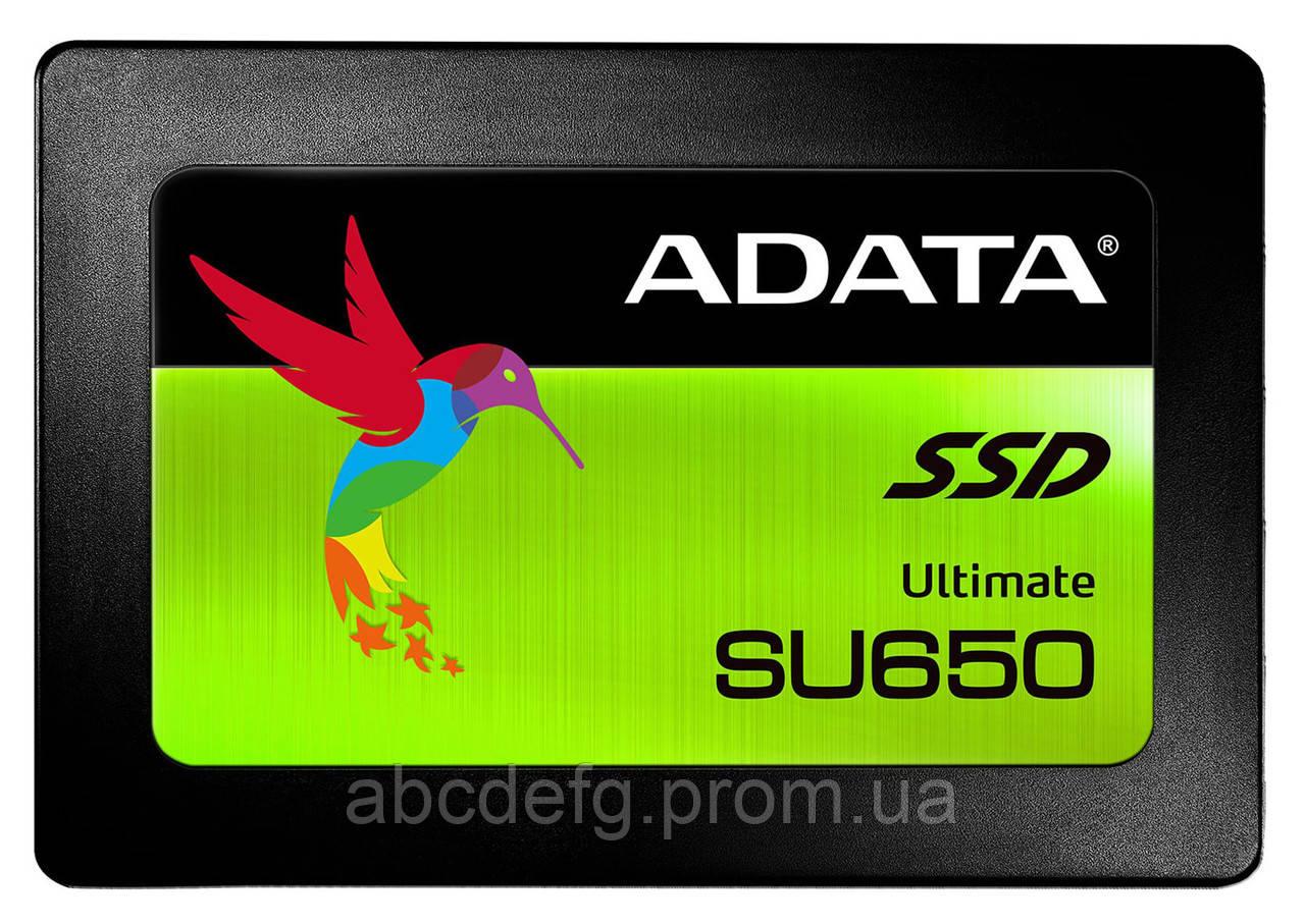 """Накопитель памяти SSD ADATA Ultimate SU650 240GB 2.5"""" SATA III 3D NAND TLC"""