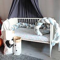 Бортик - коса в детскую кроватку Холлофайбер, 360/15 см