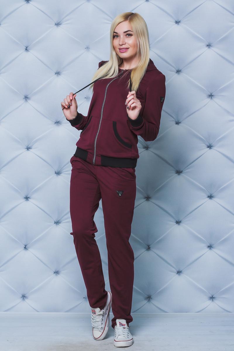 Спортивный костюм женский с брюками бордо