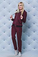 Спортивный костюм женский с брюками бордо, фото 1