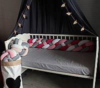 Бортик - коса в детскую кроватку Холлофайбер, 120/20 см