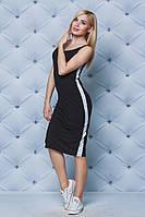 Платье летнее с лампасом черное, фото 1