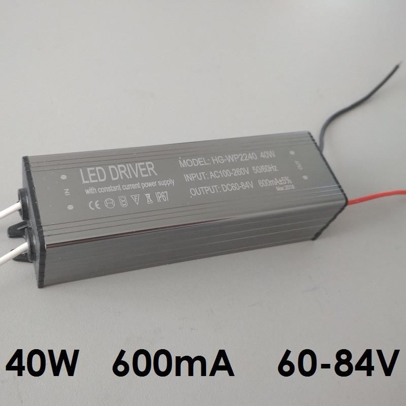 Драйвер для светодиодов 48 Вт, 600 мА, 60-84 В