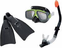 Ласты, маска и трубка для плавания Intex 55959 (ласты с закрытой пяткой)