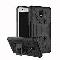 Чехол Nokia 2 противоударный бампер черный