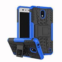Чехол Nokia 2 противоударный бампер синий