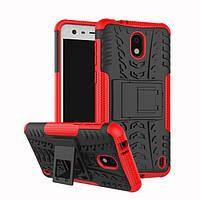 Чехол Nokia 2 противоударный бампер красный