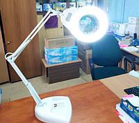 Лампа-лупа ZD-129 LAMP увеличительная косметологическая с подсветкой, на подставке, 5 диоптрий