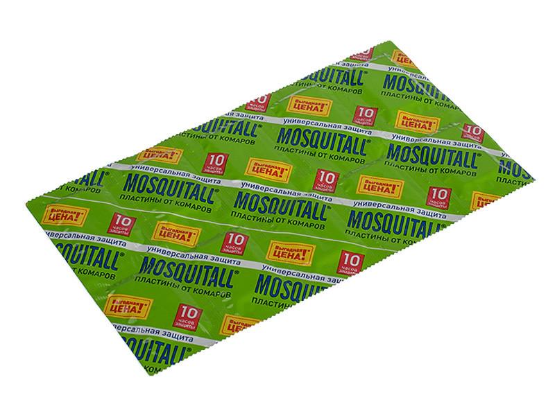 """Пластины от комаров Mosquitall """"Универсальная защита"""" (10шт.)"""