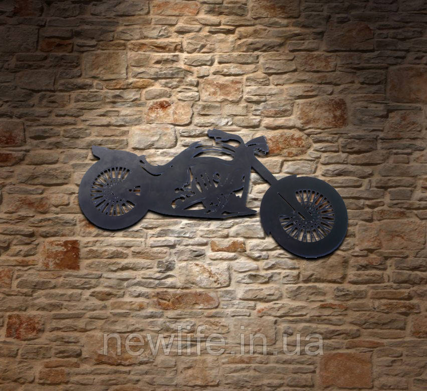Декор для бара из металла «Мотоцикл»