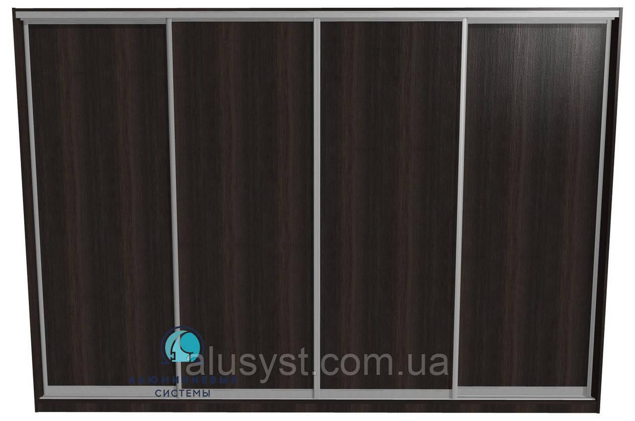 Собранные фасады для шкафов-купе с наполнением ДСП